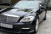 Новый Mercedes Benz S-Class 221 Long - такси в Сочи